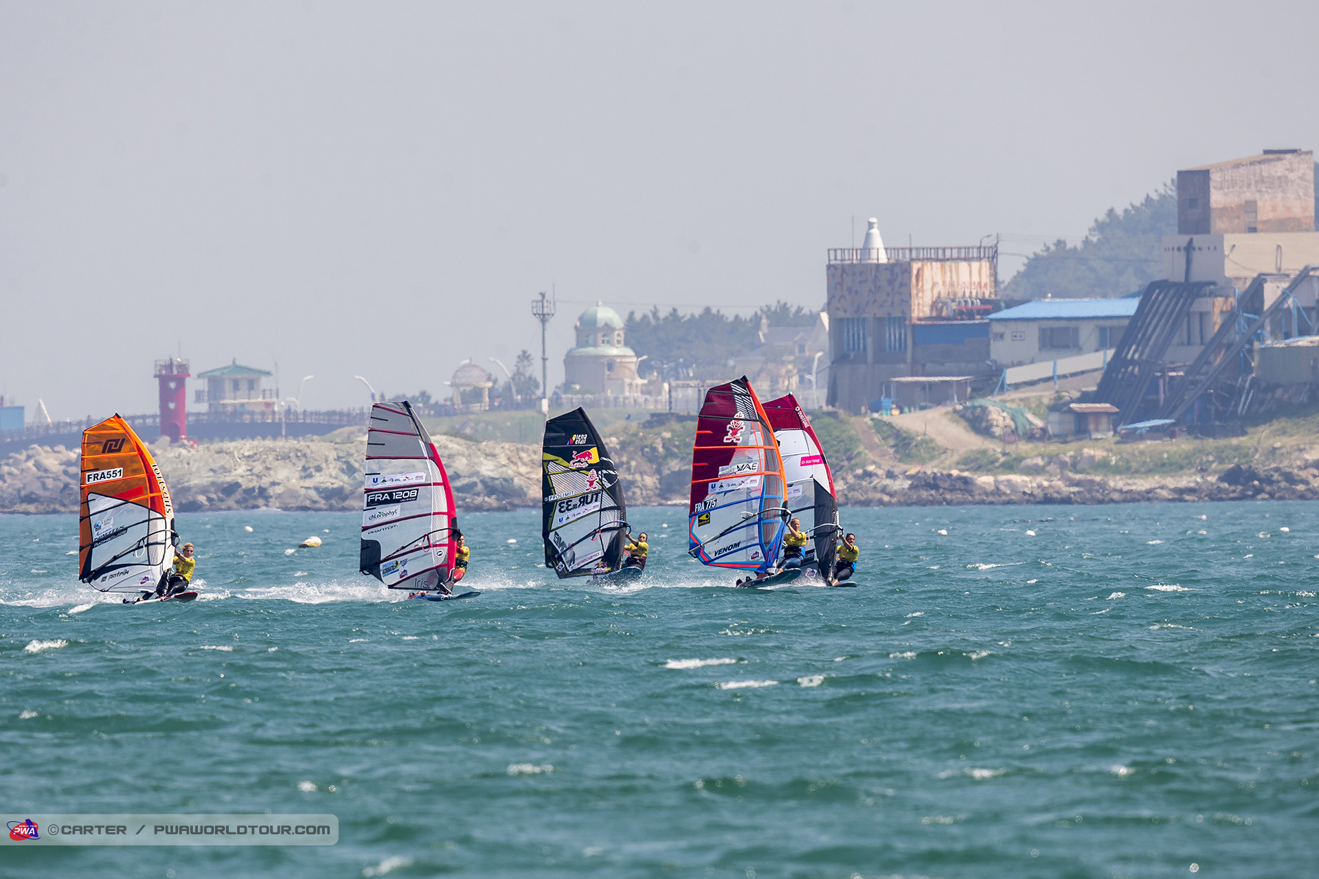 Fully lit slalom on the final day